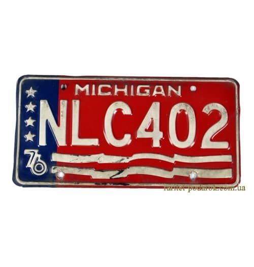 Номерной знак MICHIGAN NLC 402